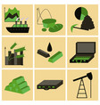 assembly of flat icons economics business finance vector image