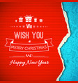 christmas and new year congratulate template vector image