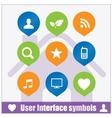 Web user interface symbols set vector image vector image