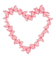 heart made of butterflies vector image