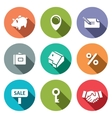 Real Estate Deal flat icon collection vector image