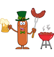 Leprechaun Sausage Cartoon vector image vector image