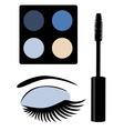 eye mascara blue vector image vector image