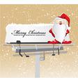 santa on billboard vector image vector image