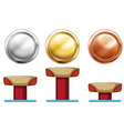 Three medals for balance beam vector image