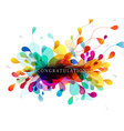 Abstract background with leafs and congratulation vector image