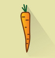 carrot flat design icon vector image