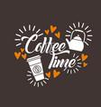coffee delicious flat vector image