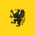 Flag of pomeranian voivodeship in poland vector image