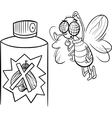 fly and bug spray coloring page vector image