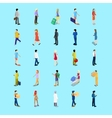Isometric People Collection Businessman Tourist vector image