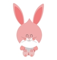 pink cute baby rabbit vector image