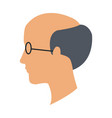 profile head man bald glasses avatar vector image