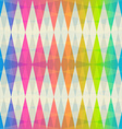 rainbow rhombus seamless pattern vector image
