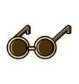 round eyeglasses old fashion trendy style vector image