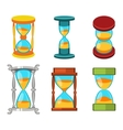 Sand clocks set vector image