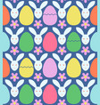 seamless pattern with colorful easter eggs and vector image