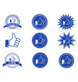 thumbs up like buttons vector image
