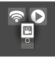 modern cellphone and icon image vector image