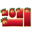 Bells red banners vector image vector image