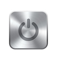 Realistic metal button vector image vector image