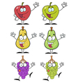 Fruits Cartoon Characters Collection vector image vector image
