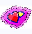 wedding pillow vector image vector image