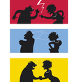Fighting couple vector image
