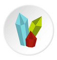 diamonds icon circle vector image