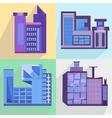 Flat set houses buildings architecture building vector image