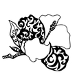 Orchid drawn forcoloring or tattoo vector image