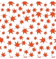 Red maple leaves seamless pattern vector image