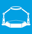 table magnify icon white vector image