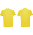 yellow polo t shirt vector image