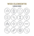 Web elements icons Video and speech bubble vector image