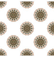 seamless pattern with colored mandalas brazilian vector image