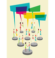 Social people balloon interaction vector image