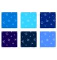 Snowflakes seamless set vector image vector image