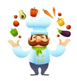 Chef With Vegetables vector image vector image
