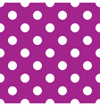 seamless purple polka dot vector image