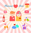 infographic of couple in love vector image