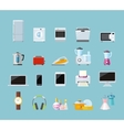 Set of Household Appliances Design Flat vector image
