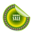 summer sale label or sticker vector image