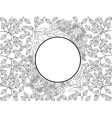 Flower pattern coloring for adults vector image