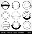 Editable Vintage Badges and Labels vector image