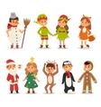 Kids costume vector image