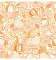 orange ornate pumpkins seamless repeat vector image