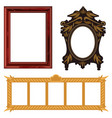 picture frame museum interior exhibition vector image
