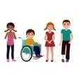 Special needs children happy set vector image