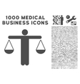 Judge Person Icon with 1000 Medical Business vector image
